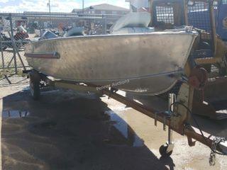 14-FT Aroliner Aluminum Fishing Boat Evinrude 25HP