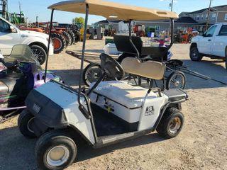 EZ Go Gas Golf Cart, running