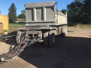 Knight 20ft Hydraulic End Dump Trailer