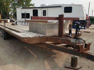 2000 Home-built 24-FT Tilt Flat Deck Trailer T/A