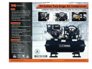 40 Gallon 2-stage 9HP Engine Air Compressor