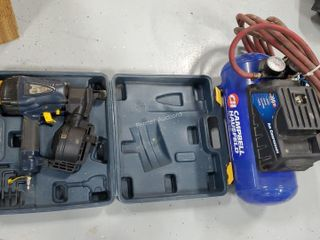 CH Air Compressor, Roofing Nailer