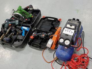 CH Air Compressor, Work Wheel, Qty of Tools