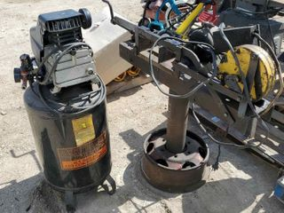 Air Compressor & Electric Hack Saw