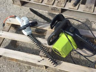 Electric Hedge Trimmer, Poulan Chain Saw
