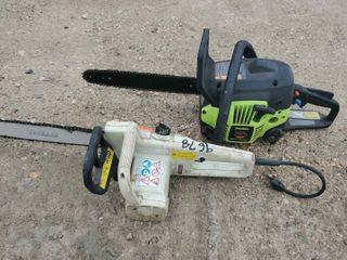 Stihl Electric Chain Saw, Poulan Gas Chain Saw