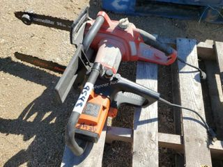 2 Electric Chainsaws, B&D, Homelite