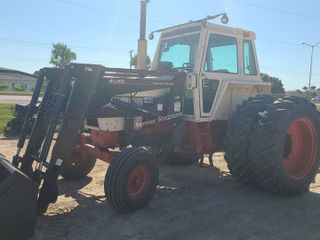 Case 1175 Tractor Allied Self Level Loader