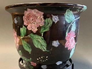 Small Oriental Flower Pot