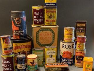 large lot of Kitchen Nostalgia Tins Boxes