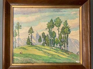 Original T H Moser Watercolour