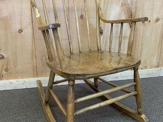 Antique Ash Childs Rocking Chair