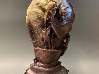 Exceptional Fleur de Pecher Marble Vase