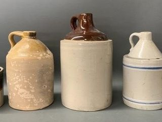 Group of Stoneware Crocks and Jugs