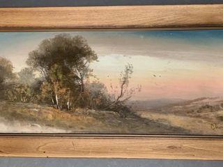 Original Chandler Pastel in Frame Signed