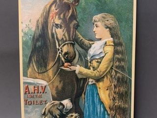 Reproduction Tin Type Ad Sign