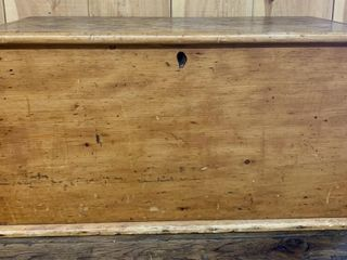 Primitive Pine Dovetailed Blanket Box