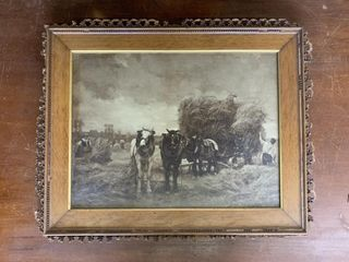 Primitive Framed Farming Print