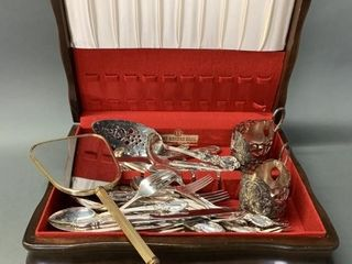 Rogers Flatware Box with Silver Plate