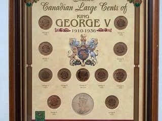 Canadian large Cent Collection 1910 1936