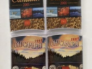 1999 2001 Oh Canada RCM Coin Sets