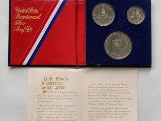 1776 1976 US Bicentennial Silver Proof Set