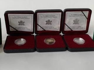 3  First French Canadian Regiment Collector Coins