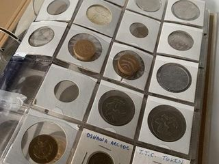Major Binder lot of Currency Tokens Stamps Collect