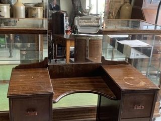 Vintage Dressing Table with Tall Mirror