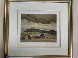 A J Casson Artist Proof 49 60 Barn Near Quadrille