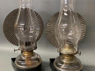 Pair of Matching Wall Oil lanterns