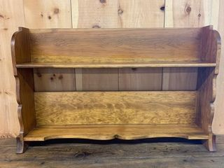 Pine Two Shelf Hanging Pail or Plate Rack