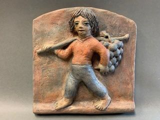 Hand Sculpted Stoneware Tile