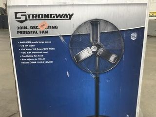 "Strongway 30"" Oscillating Pedestal Fan"