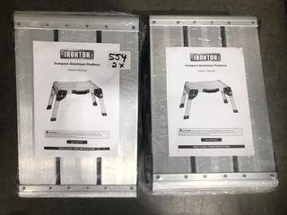 (2X) Ironton Compact Aluminum Folding Platform