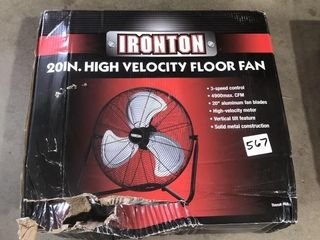 """Ironton 20"""" High Velocity Floor Fan"""