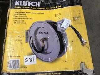 "Klutch 3/8""x50' Auto Rewind Air Hose Reel"