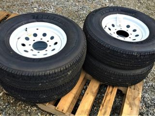 (4X) New TowMax ST 235/80R16 Trailer Tires