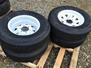 (4X) New Rainier ST 225/75R15 Trailer Tires