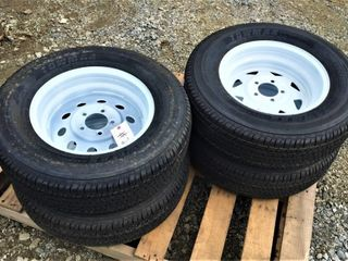 (4X) New TowMax ST 205/75R15 Trailer Tires