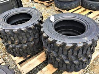 (4X) New LoadMaxx 12-16.5 Skidloader Tires