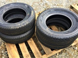 (4X) New Road Guider ST 205/75R15 Trailer Tires