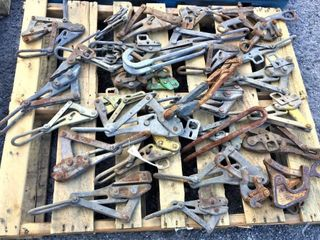 30 Assorted Wire & Cable Clamps & Pullers