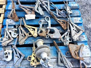 20 Assorted Wire & Cable Clamps & Pullers