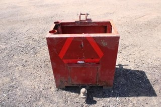 3 pt. steel weight box