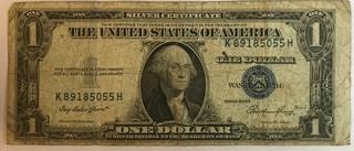 1935 E 1$ Silver Certificate