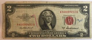 1953 A $2 Federal Note