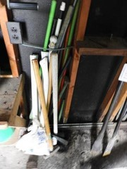 8-piece lot to include 2 sledgehammers, maul,