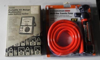 Sears portable 41 range multimeter with battery