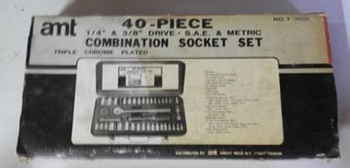 AMT 40 piece combination socket set 1/4 inch